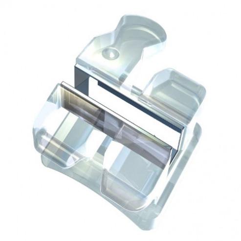Brackets céramiques Andry White avec rainure métallique - ROTH et MBT (Kit de 20 unités) - ROTH. 0,22 Img: 201807031