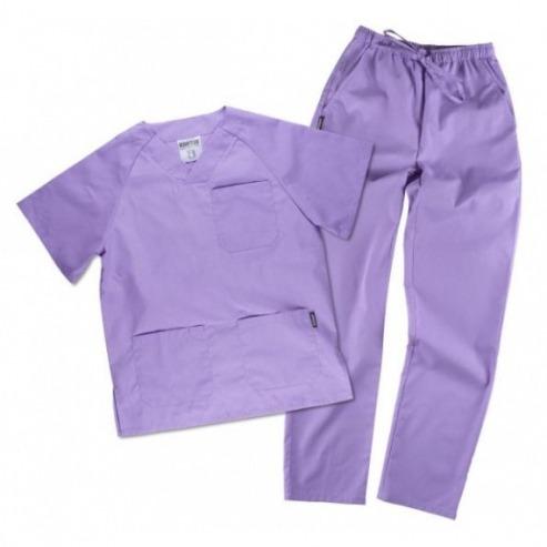 Pyjamas de clinique - Couleurs variées-Taille L - Bleu clair Img: 202006201