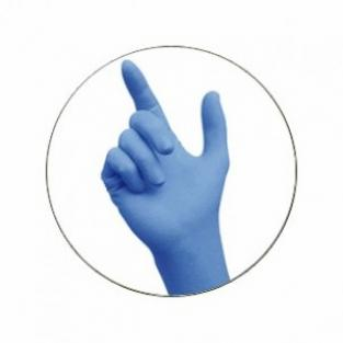 NITRILO SANS gants poussière BLEU L (100u.  Img: 201807031
