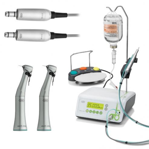 Moteur Implantmed SI-923 (2 Micromoteurs + 2 AC + Pédale) - Option avec 2 Contre-angle WS-75 E/KM (Sans lumière) et 2 Micromoteurs Img: 201907271