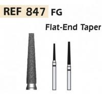 Fraises 847 diamant-FG cône pointe plate X5UDS. (847-012 M AZUL/TRANSP)  Img: 201811031