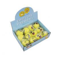 Balle anti-stress Emoji - 12 unités, Couleur Jaune Img: 202005231
