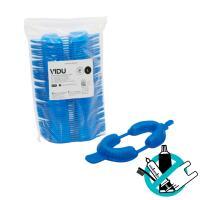 Porte-empreintes fluorés jetables (50 pièces) - Taille L (bleu) Img: 202110091