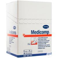 Medicomp : Compresses de gaze stériles 30 gr (40 paquets x 5 pcs - 5 x 5 cm) Img: 202006271
