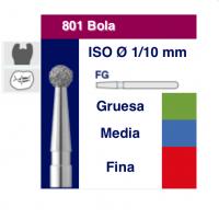 801 - FRAISE FG DIAMANT BOULE 5 unités  023 MOYEN Img: 201809151