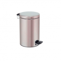 POUBELLE INMOCLINC cylindrique en acier inoxydable c / pédale 12 l Img: 201908101