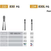Fraises 830 diamant-FG Pera X5UDS. (830-012 C VERDE)  Img: 201807031