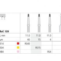 Fraise OSC RS15 11mm ROOTSHAPE 15μm  Img: 201807031
