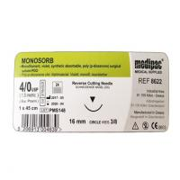 Sutures MONOSORB PDA monofilament 45cm 3/8 cir.16mm - 4/0 45cm Img: 202101091