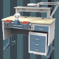Table de laboratoire monoposte JT-53 (B) 1'2m. avec aspiration Img: 201807031