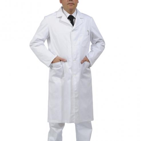Bata cotone clinica mens ZEUS (1u.) - Colore Bianco - Taglia L Img: 201807031
