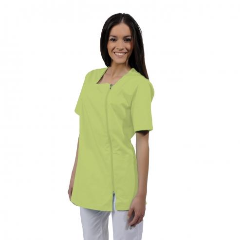 Casaca donna ATENA cotone a maniche corte (1u.) - Colore Green apple - taglia L Img: 201807031
