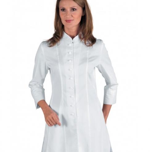 Camice da donna - manica francese (bianca) - 10 denti Img: 202009121
