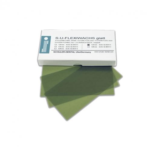 Piastre in cera Verde liscio (15u.) - 0.35 mm fogli 15 pz Img: 201907271
