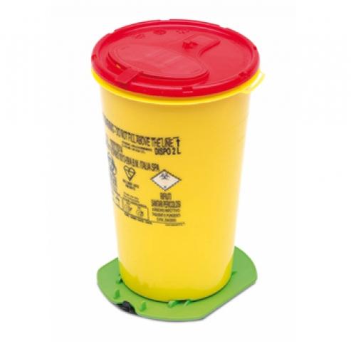 Contenitore di aghi 2L G62 giallo c/ventosa (10u) 2L G62 Img: 201809011