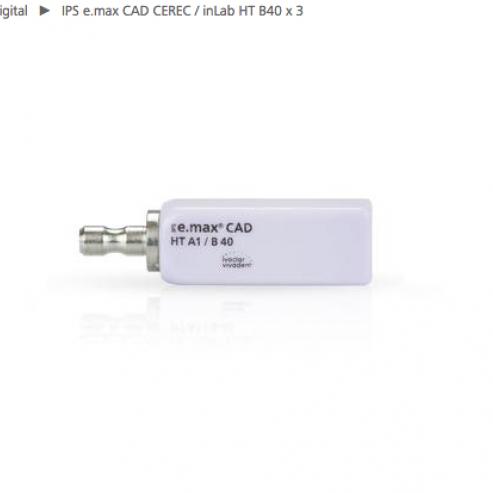 IPS EMAX CAD CEREC / inLab HT A1 B40 3 ud Img: 201807031