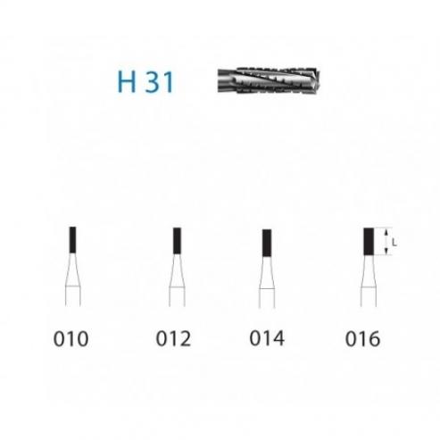 Fresa in metallo duro H31.204.012 per contrangolo (5 pz.) - H31.204.012 Img: 202003141