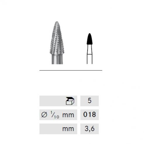 Fresa H390Q lancia p / apertura occlusale FG (5u) H390Q-314-018 FRESA Img: 201809011