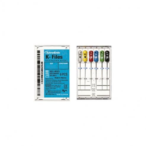 Lime K Files - Lime endodontiche (6u) 25mm. Nº50 GIALLO (6u) Img: 201809011
