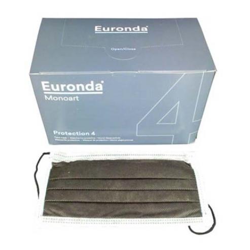 Monoart® - Mascherina di protezione della bocca (50 pz.) - 50 u. elastico marrone Img: 202005021