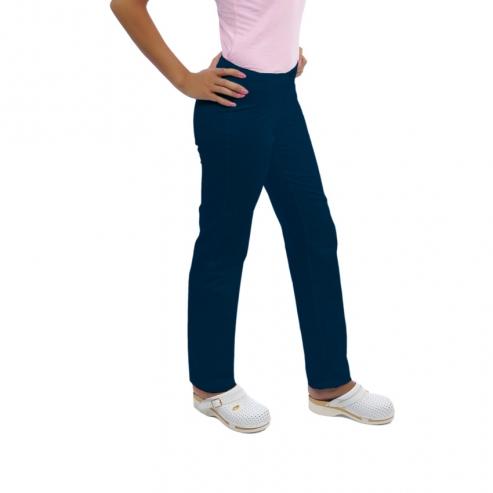 donna clinica pantaloni ROMINA cotton (1u.) - Colore blu scuro - Taglia 40 Img: 201807031