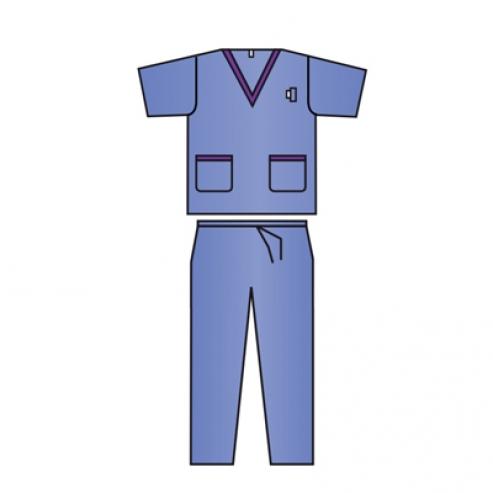Pigiama chirurgico XL monouso (giacca + pantaloni) 30u TAGLIA XL (30u) Img: 202004041