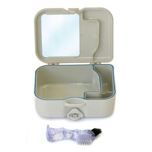 PORTA-Protesis BOX con pennello e SPECCHIO Img: 201807031