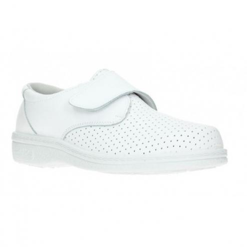 Scarpa In Pelle Con Velcro Bianco - 35 Img: 202002291