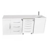 Set di mobili quadruplo con Push On con lavandino - Destro: Img: 202103201