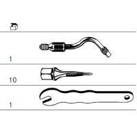 Kit di pulizia dell'impianto p / ultrasuoni (punta + 10 pin polimero) Img: 201809011