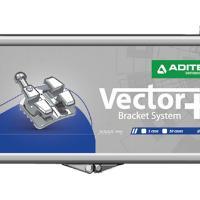 """Vector - Bracket metallico Roth/Andrews/MBT .018"""" (10u.)-UL4/5 con gancio -7°T 0°A 2°OFF. 10 unità Img: 202010171"""
