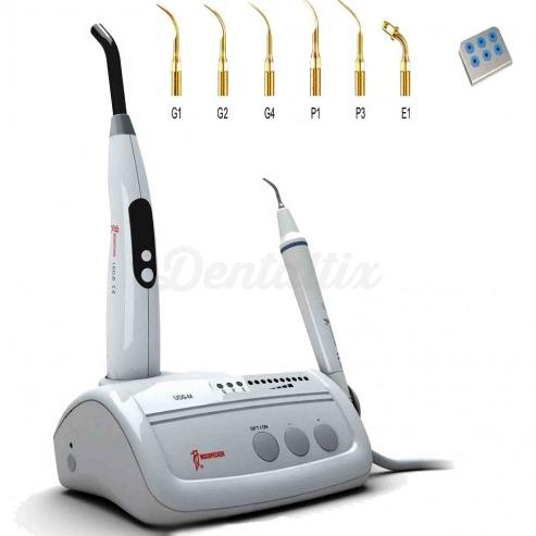 aparato de ultrasonidos UDS M de Woodpecker con lampara de fotocurado