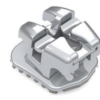 """Easyclip+ Bracket Interativo Damon Baixo Torque .022"""" (5u.) -Baixo torque LL1 -11°T 2°A. Img: 202004041"""