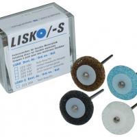LISKO /-S - Discos de polir (10 + 4 + 1 mandril) - 10 discos de polimento médio, cinza, 4 discos de suporte, 1 mandril Img: 202007181