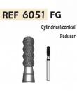 Fresas de diamante 6051 Reductor cilíndrico/cónico F.G. turbina (5u.) (6051-016 F ROJO) Img: 201807031
